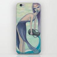 aquarius iPhone & iPod Skins featuring Aquarius by Artist Andrea