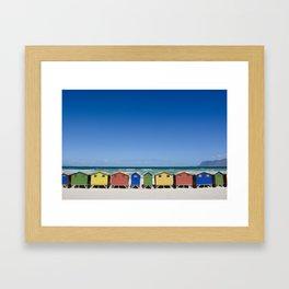 Muizenberg Cabanas, South Africa Framed Art Print