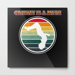 Backflip Parkour Jumping Gravity Myth  Jumper Metal Print