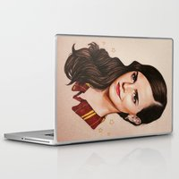 gryffindor Laptop & iPad Skins featuring Queen of Gryffindor by The Art Of Dreams