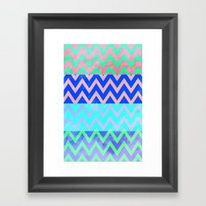 Chevron Spring Framed Art Print