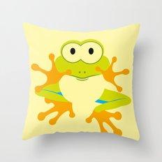 Minimal Tree Frog Throw Pillow