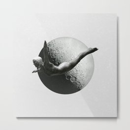 Moon Diver Metal Print