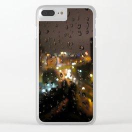 Rainy Night City Clear iPhone Case