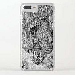 Cave of the Bear King Clear iPhone Case