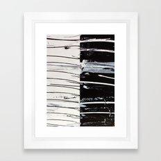 Black & White Close Up Framed Art Print