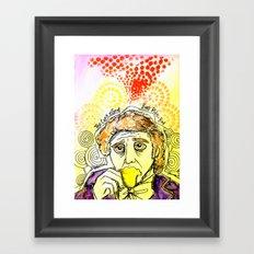 Willy Wonka Drinks His Tea - Gene Wilder  Framed Art Print