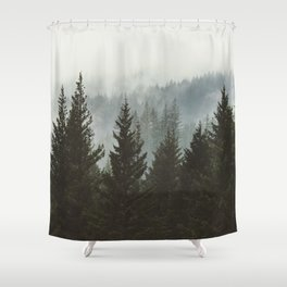 Forest Fog Mountain IV - Wanderlust Nature Photography Shower Curtain