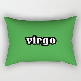 Virgo (Green) Rectangular Pillow