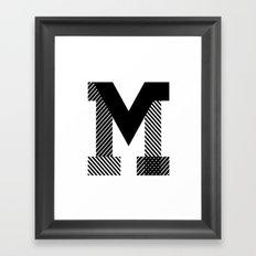 THE LETTER M Framed Art Print