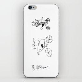 UX/UI Bike Sketch - User Experience Rocks iPhone Skin