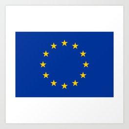 European Flag Art Print