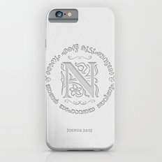 Joshua 24:15 - (Letterpress) Monogram N Slim Case iPhone 6s