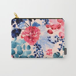 Watercolour Floral Botanical Leaves Carry-All Pouch