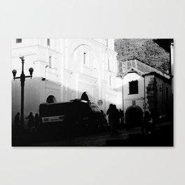 Postcard Shadows Canvas Print
