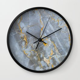 Golden Marble Wall Clock