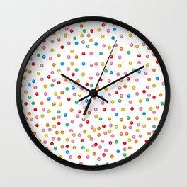 Rainbow Gumballs White Wall Clock