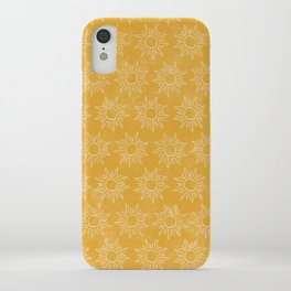 Sun pattern iPhone Case