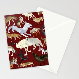 Wolves of the world Red Version Stationery Cards