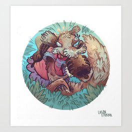 Squirrel Princess Art Print