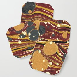 Old Marbled Paper 01 Coaster