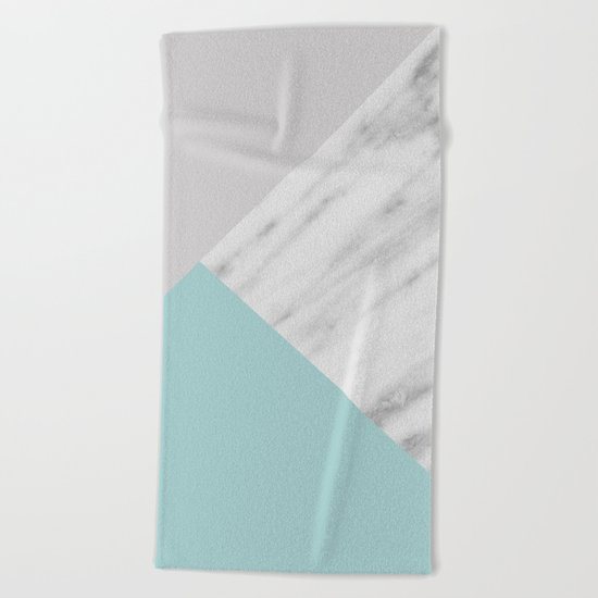 Ice Color Marble Collage Beach Towel