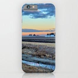 Moonset Over Iowa iPhone Case