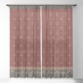 Christmas Paisley - Delicate Sheer Curtain