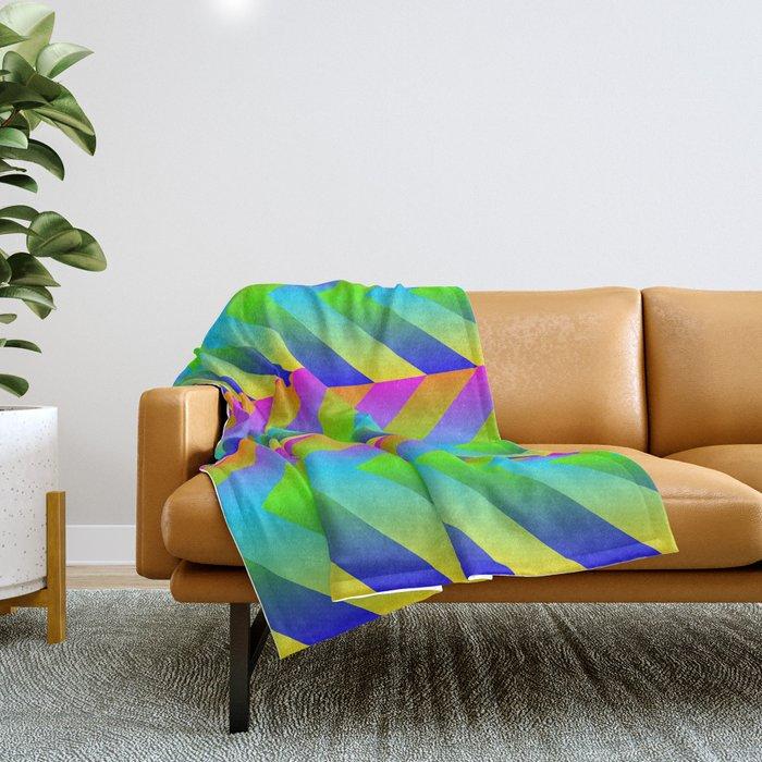 Colorful Gradients Throw Blanket