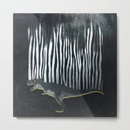 zebrex - the tyrex who wanted to become a zebra  Metal Print