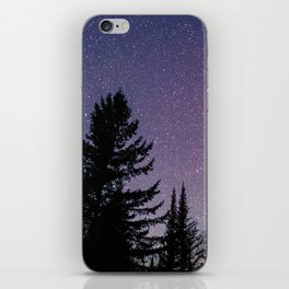 North Woods Starry Night Pines iPhone Skin