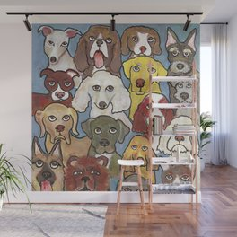 Going to the dogs Wall Mural