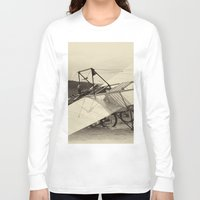 aviation Long Sleeve T-shirts featuring Airplane by DistinctyDesign