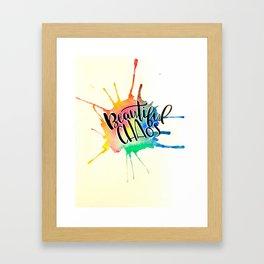 Beautiful Chaos Framed Art Print