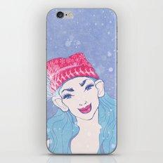selfie girl_11 iPhone Skin