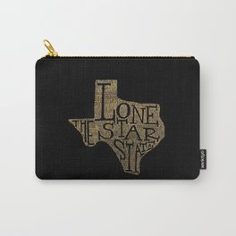 """Map art Texas """"The Lone Star State"""" Carry-All Pouch"""