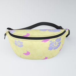 Tropical Pattern Yellow Fanny Pack