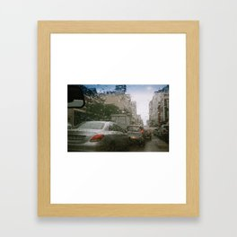 Cape Town traffic on a rainy day Framed Art Print