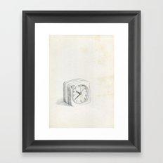 Little clock Framed Art Print