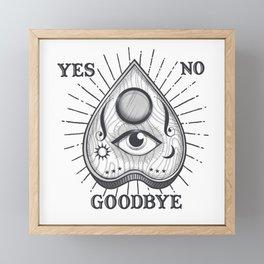 Yes No Goodbye Magic Ouija Vintage Planchette Design Framed Mini Art Print