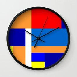 Mondrian #10 Wall Clock
