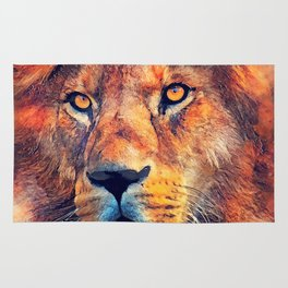 Lion art #lion #animals Rug