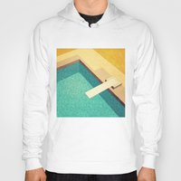 pool Hoodies featuring Pool by Herb Vaine