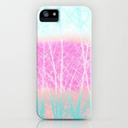 Winter Branches in Ice Cream Colors iPhone Case