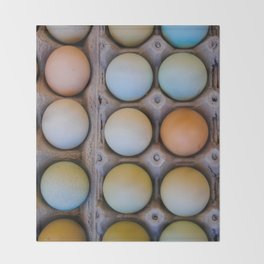 colorful eggs from southern Chile Throw Blanket