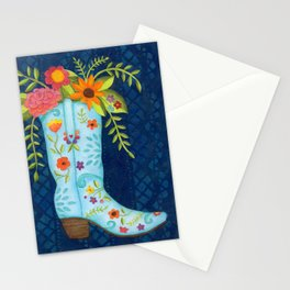 Cowgirl Boot Stationery Cards