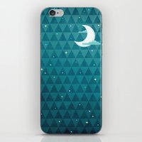 night sky iPhone & iPod Skins featuring Night Sky by littleclyde