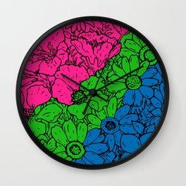 Polyamorous Flowers Wall Clock