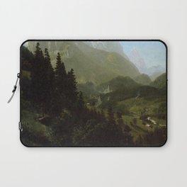 The Wetterhorn 1857 By Albert Bierstadt | Reproduction Painting!Blog By Albert Bierstadt | Reproduct Laptop Sleeve