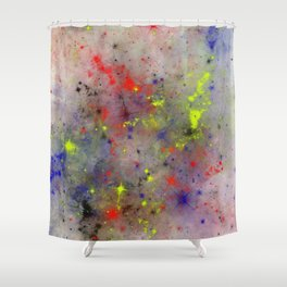 Primary Space Shower Curtain